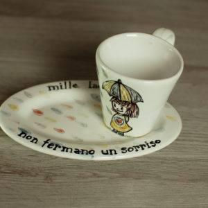 Set caffè con frase