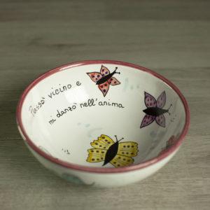 Ciotole personalizzate con farfalle
