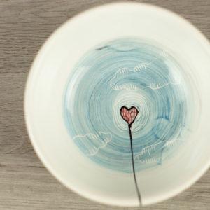 Ciotola personalizzata con scritta e cuore