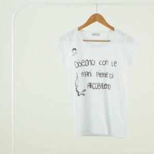 T shirt bianca personalizzata con scritta Donna