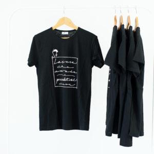 T shirt personalizzata nera maniche corte
