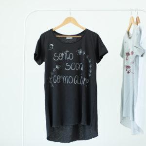 T shirt Donna manica corta scritta