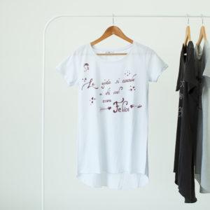 T shirt lunda Donna bianca personalizzata