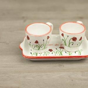 Set caffe in ceramica personalizzato