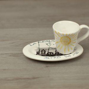 Set singolo caffe personalizzato con scritta