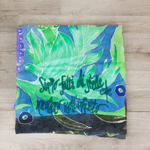 Foulard seta quadrato dipinto a mano