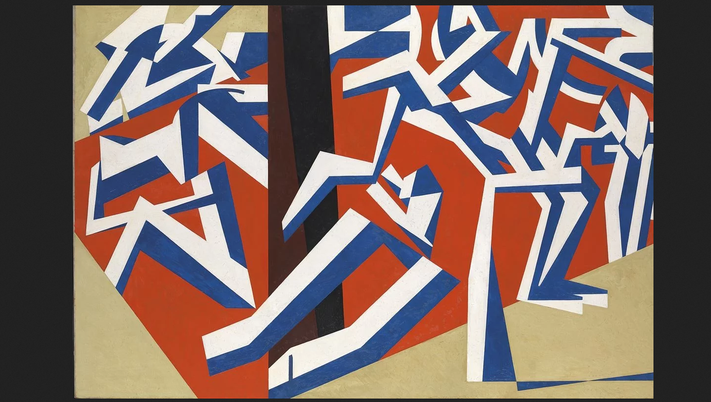 David Bomberg, The Mud Bath, 1914 Oil on canvas 152.4 × 224.2 cm Tate, London (T00656) Purchased 1964 © Tate