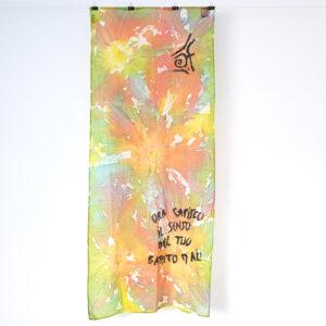 Foulard in seta colorato
