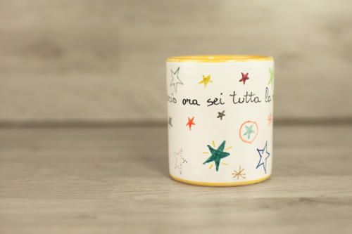 Bicchiere personalizzato con scritta. Idea regalo Natale