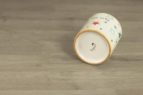 Bicchiere personalizzato dipinto a mano. Idea regalo