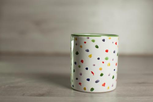 Bicchiere punti colorati