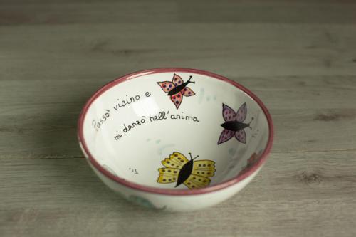 Ciotola 16cm Farfalle colorate