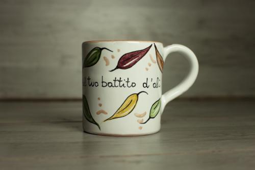 Mug ceramica Foglie colorate