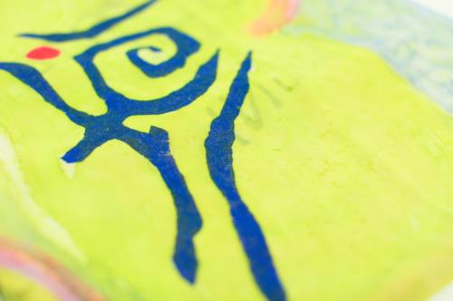 Foulard unisex con scritta personalizzata, dipinto a mano
