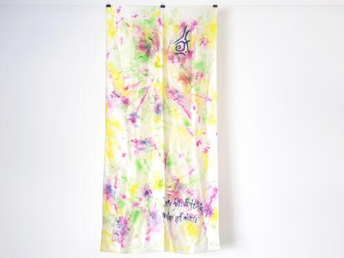 Foulard seta acquerello multicolore