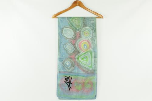 Foulard in seta dipinto interamente a mano e pezzo unico