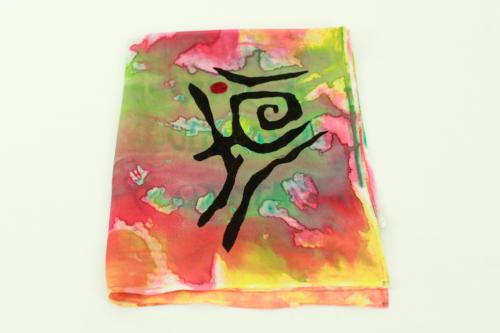 Foulard in seta con colori luminosi e gioiosi