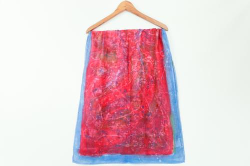 Foulard seta colorato con scritta