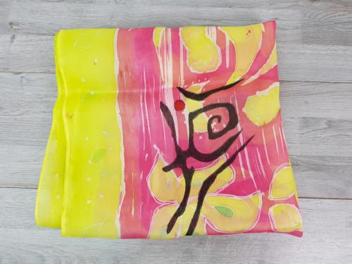 Foulard per donna dipinto a mano