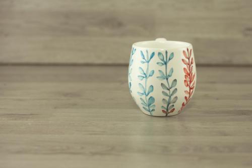 Tazza personalizzata mug grande con scritta dipinta a mano