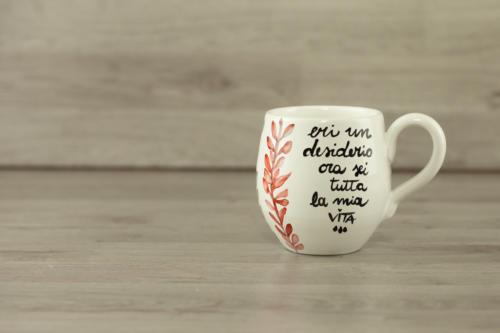 Tazza personalizzata mug grande dipinta a mano