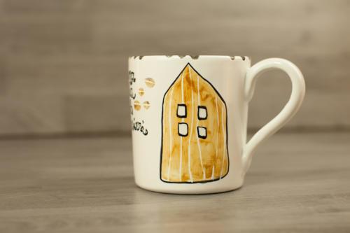 Tazza personalizzata grande in ceramica