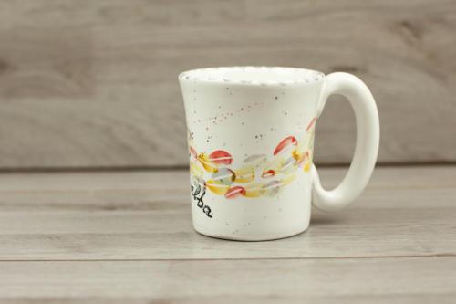 Tazza caffè in ceramica con scritta