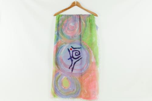 Sciarpa colorata dipinta