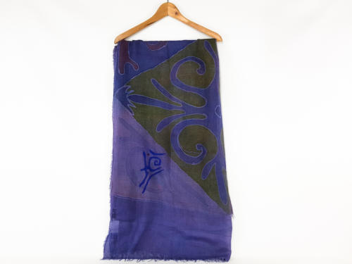 Pashmina viola personalizzata con scritta