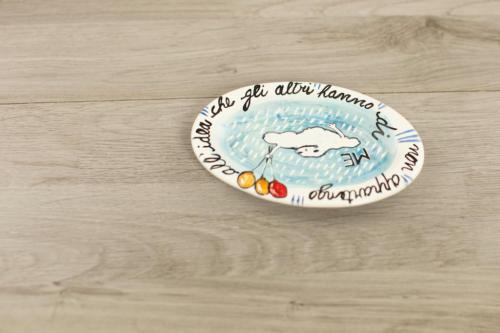 Piattino personalizzato con scritta e disegno
