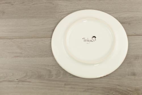 Piatto personalizzato in ceramica con scritta e disegno