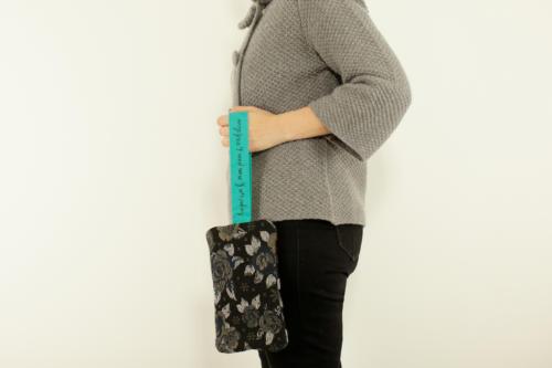 Pochette personalizzata piccola in lana con scritta