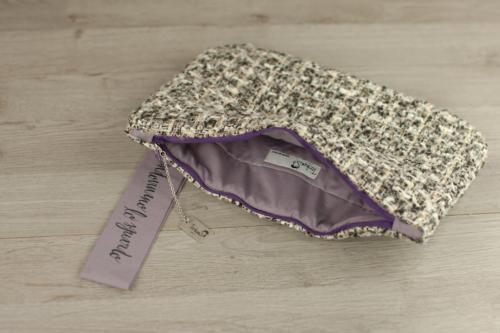 Pochette  personalizzata lana scozzese elegante