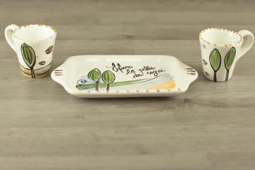 Set tazzine personalizzato in ceramica con scritta