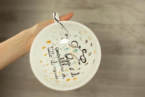 Tazza personalizzata compleanno fatta a mano. Idea regalo