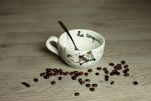 Tazza tea Bruco e Farfalla