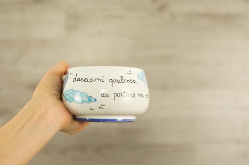 Tazza personalizzata con scritta e mongolfiere. Idea regalo San Valentino