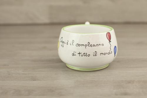 Tazza personalizzata colazione con scritta. Idea regalo