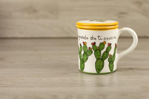 Tisaniera personalizzata in ceramica con scritta