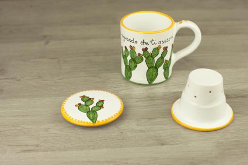 Tisaniera personalizzata in ceramica con scrittaTisaniera fichi India_4